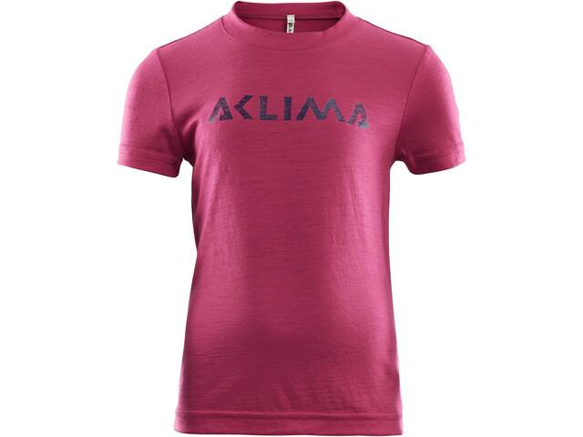 Aclima LightWool T-Shirt Enfant, cerise